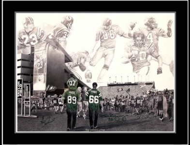 ROUGHRIDERS TEAM<br/></noscript>SIGNED PAINTING