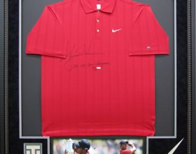 TIGER WOODS<br/>SIGNED GOLF SHIRT